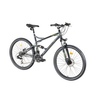 "Celoodpružený bicykel DHS Terrana 2645 26"" - model 2016 - Gray-Black-Green"