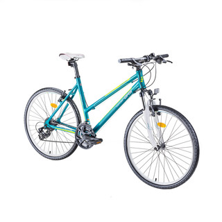 "Dámsky crossový bicykel DHS Contura 2666 26"" - model 2016 - Smarald-Green"