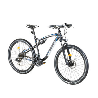 "Celoodpružený bicykel DHS Terrana 2745 27,5"" - model 2016 - Black-White-Blue"