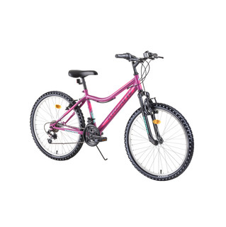 "Juniorský horský bicykel Kreativ 2404 24"" - model 2019 - Purple"