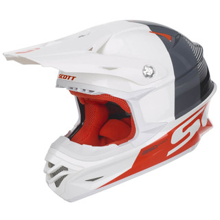 Motokrosová prilba SCOTT 350 Pro Track MXVII - White-Orange