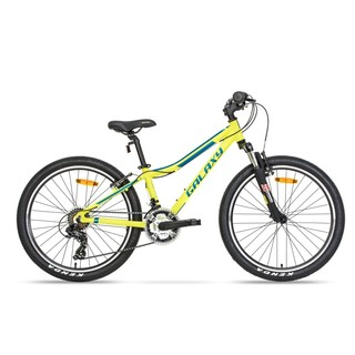 "Juniorský horský bicykel Galaxy Pavo 24"" - model 2019 - žltá"