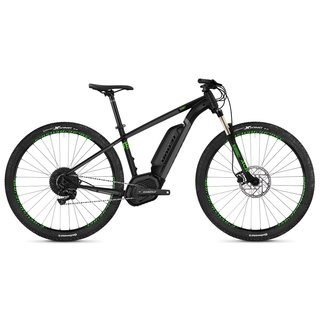 "Horský elektrobicykel Ghost Teru B4.9 29"" - model 2019 - Jet Black / Urban Gray / Riot Green"