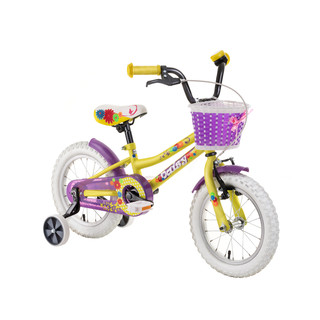 "Detský bicykel DHS Daisy 1602 16"" - model 2019 - Yellow"