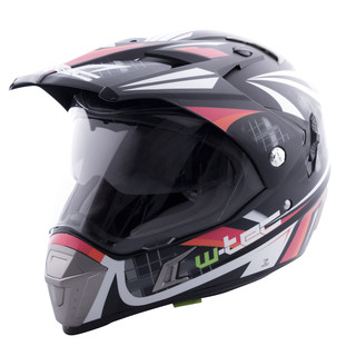 Moto prilba W-TEC NK-311 - Cube Black Orange