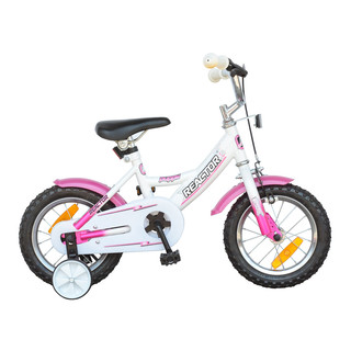 "Detský bicykel Reactor Puppi 12"" - bielo-ružová"