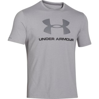 Pánske tričko Under Armour CC Sportstyle Logo - True Gray Heather