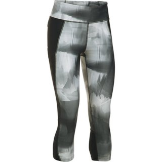 Dámske kompresné legíny Under Armour Fly By Printed Capri - Black/Gray/Reflective