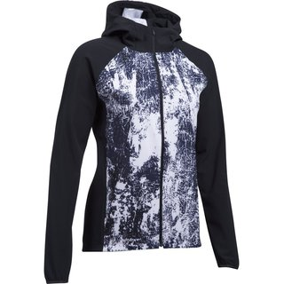 Dámska bežecká bunda Under Armour Outrun The Storm Printed Jkt - BLACK / WHITE / REFLECTIVE