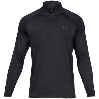 Pánske tričko Under Armour Tech 2.0 1/2 Zip - Black /  / Charcoal