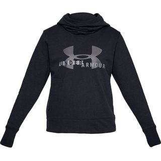 Dámska mikina Under Armour Cotton Fleece Sportstyle Logo Hoodie - Black