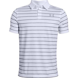 Chlapčenské tričko Under Armour Tour Tips Stripe Polo - White