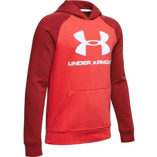 Chlapčenská mikina Under Armour Rival Logo Hoodie - Martian Red