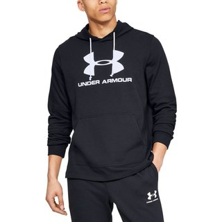 Pánska mikina Under Armour Sportstyle Terry Logo Hoodie - Black
