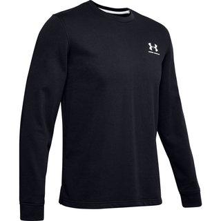 Pánska mikina Under Armour Sportstyle Terry Logo Crew - Black