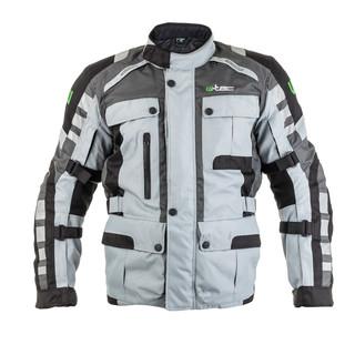 Moto bunda W-TEC Avontur - šedo-čierna