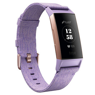 Fitness náramok Fitbit Charge 3 Lavender Woven
