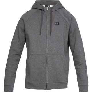 Pánska mikina Under Armour Rival Fleece FZ Hoodie - Charcoal Light Heather