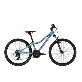 "Juniorský bicykel KELLYS KITER 50 24"" - model 2021 - Turquoise"