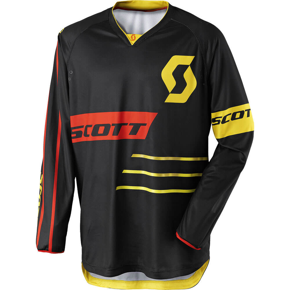 Motokrosový dres SCOTT 350 Dirt MXVII black-yellow - M (46-48)
