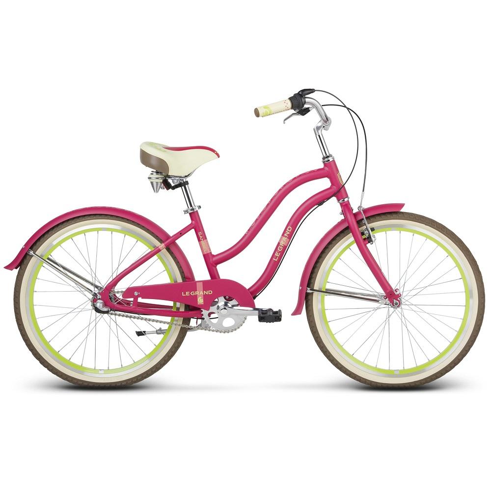 "Juniorský dievčenský bicykel Le Grand Sanibel JR 24"" - model 2020 ružová"