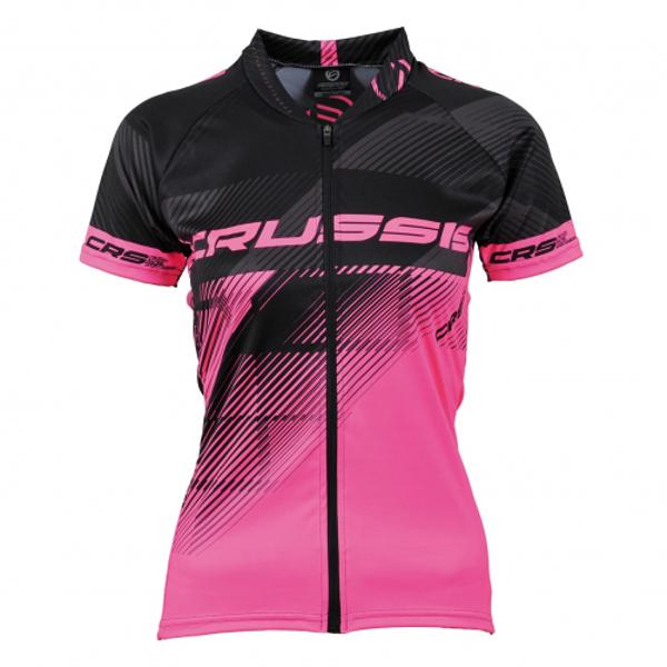 Dámsky cyklistický dres Crussis čierno-ružová - S