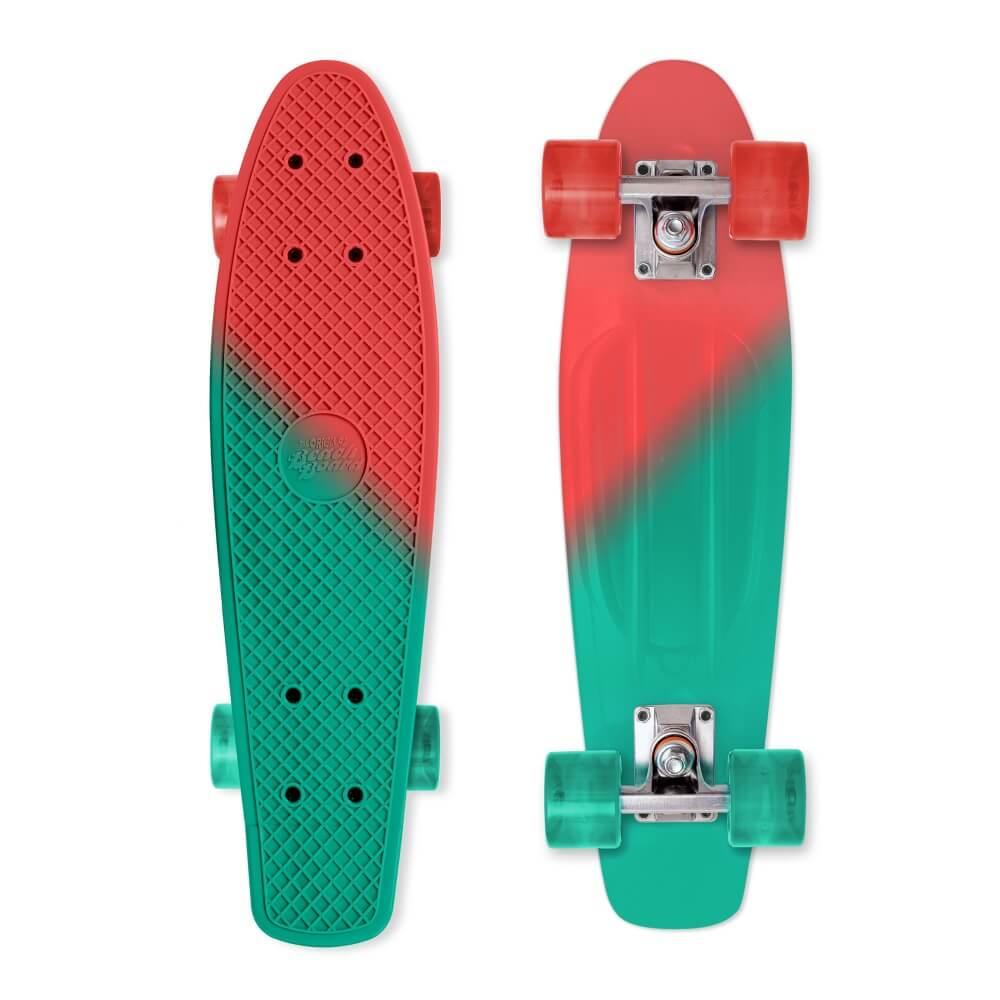 Penny board Street Surfing Beach Board Color Vision, červeno-zelená