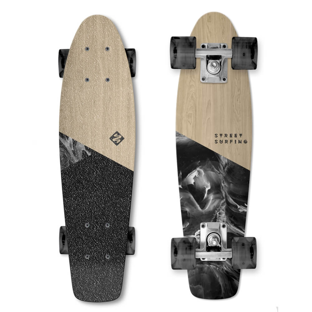 Pennyboard Street Surfing Beach Board Wood Dimension 22,5""