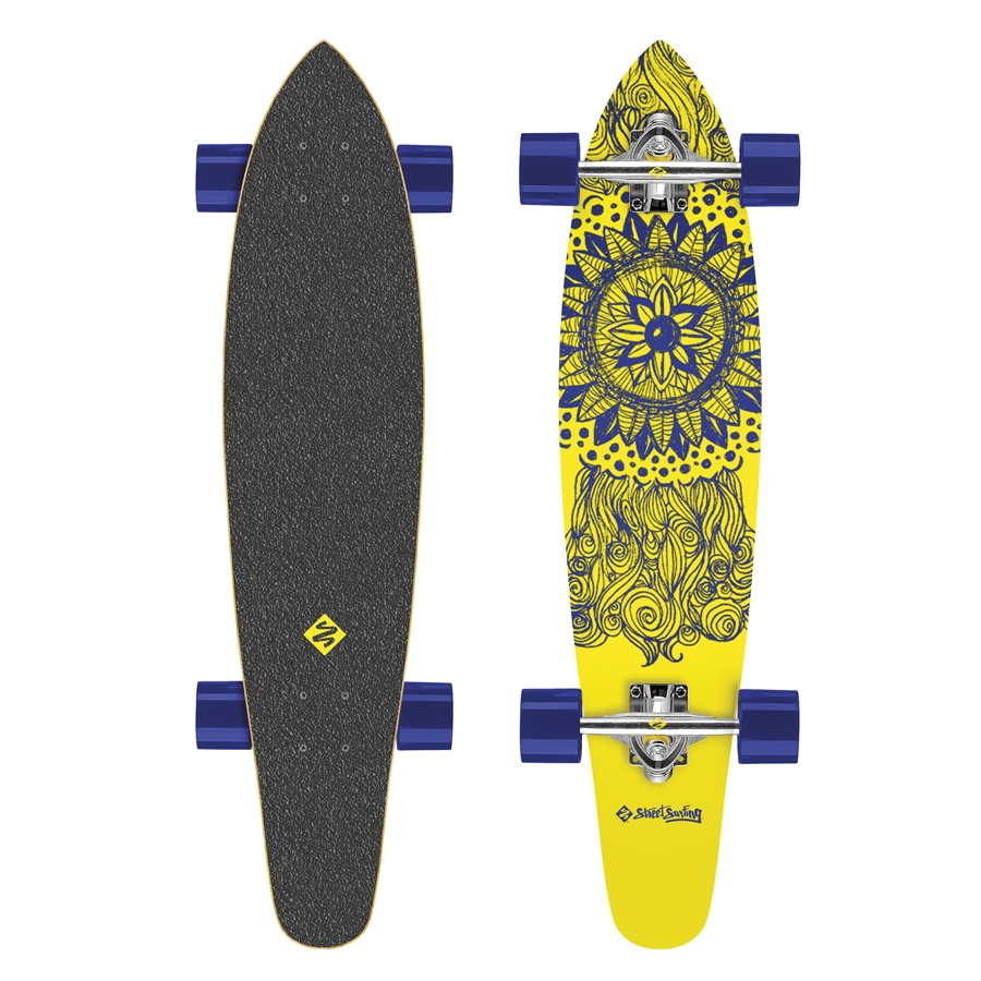 "Longboard Street Surfing Kicktail - Mandala Massala 36"""