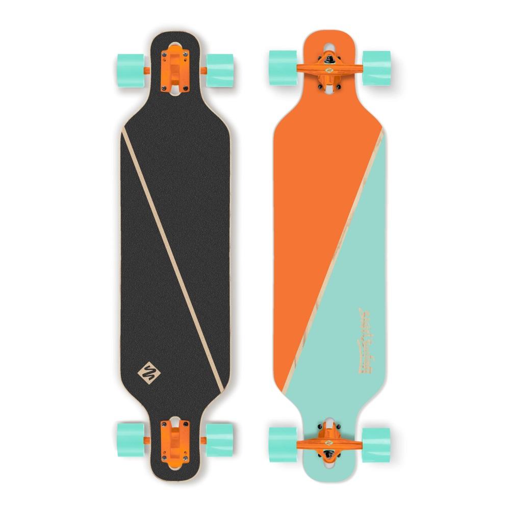 "Longboard Street Surfing Freeride - Nordic Orange 39"" ABEC 9"
