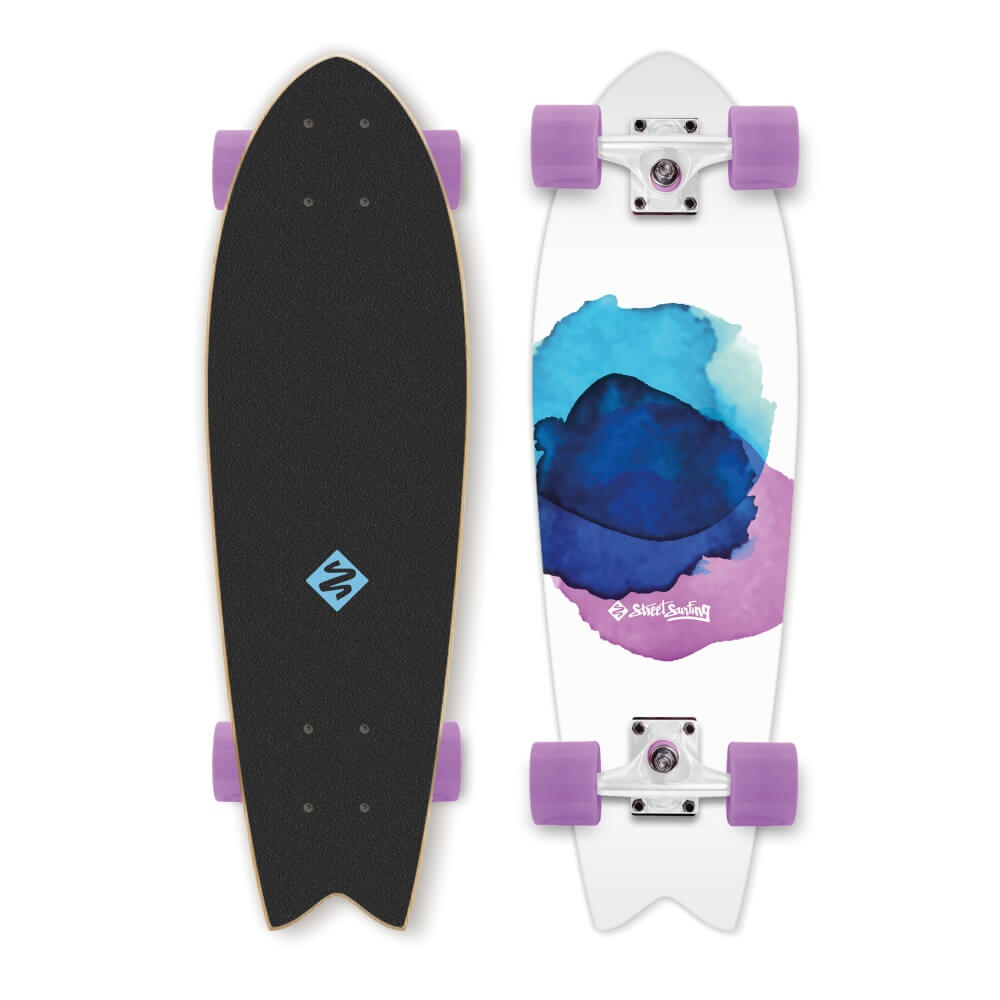 Mini longboard Street Surfing Fishtail - Jelly Fish 30
