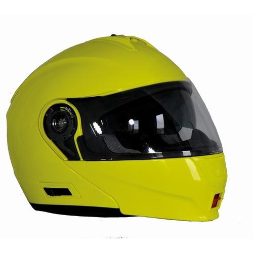 Prilba na motorku Ozone FP-01 fluo yellow - S (55-56)