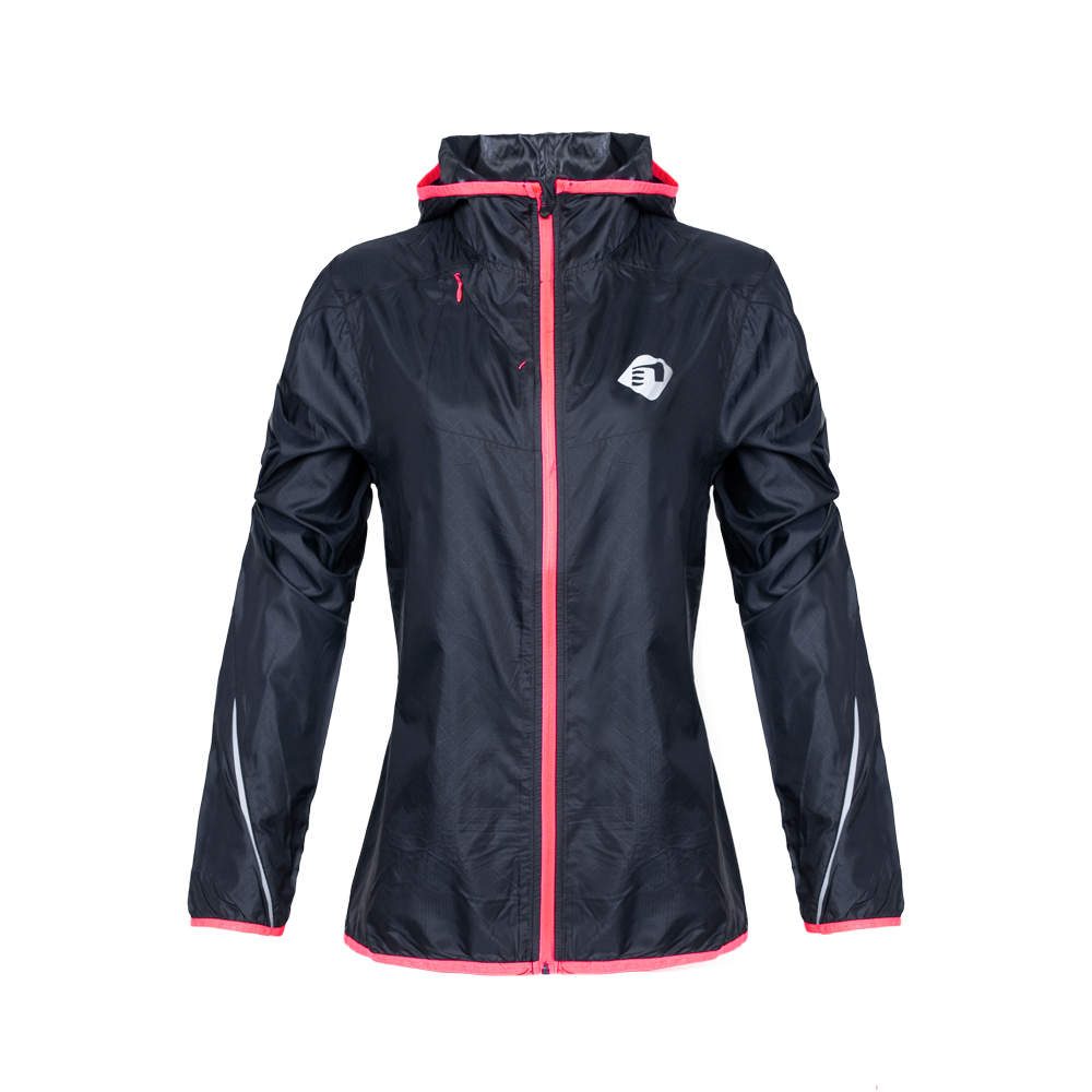 Dámska bežecká bunda Newline Imotion Hood Print s kapucňou tmavo modrá - XS