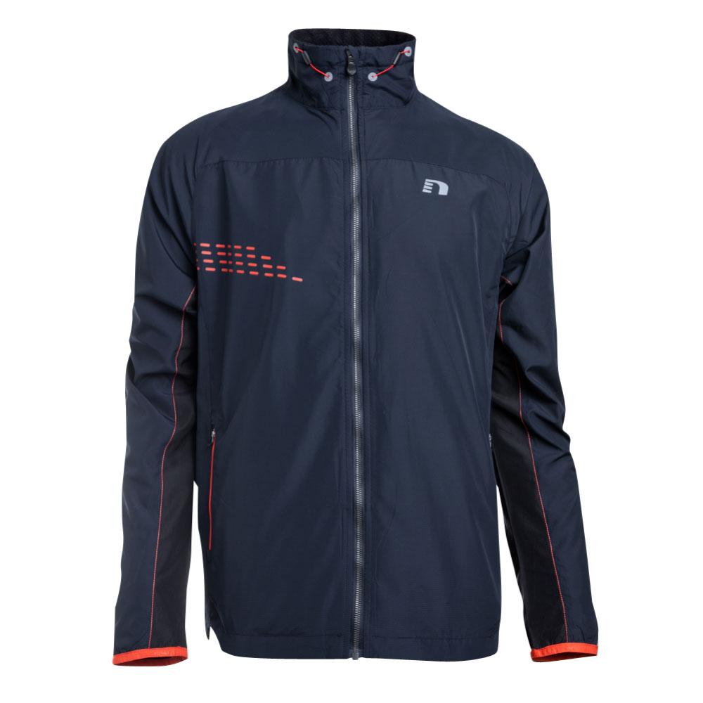 Pánska bežecká bunda Newline Imotion Warm tmavo modrá - XXL