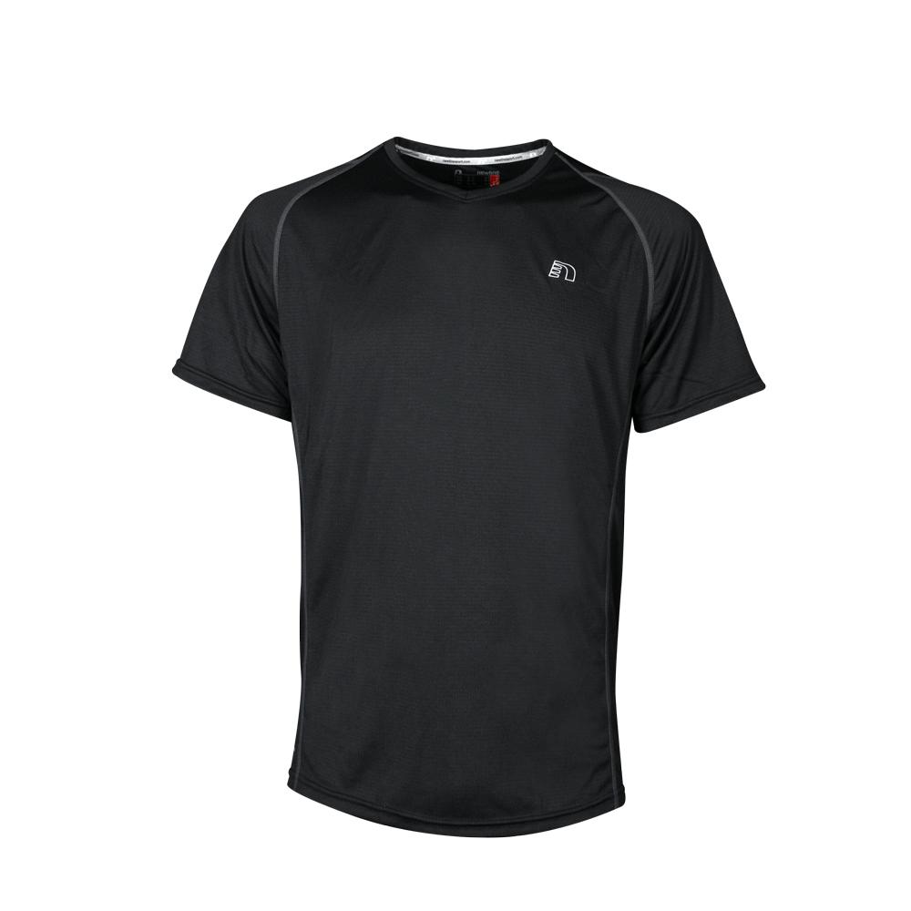 Pánske bežecké tričko Newline Base Coolskin Tee čierna - XXL