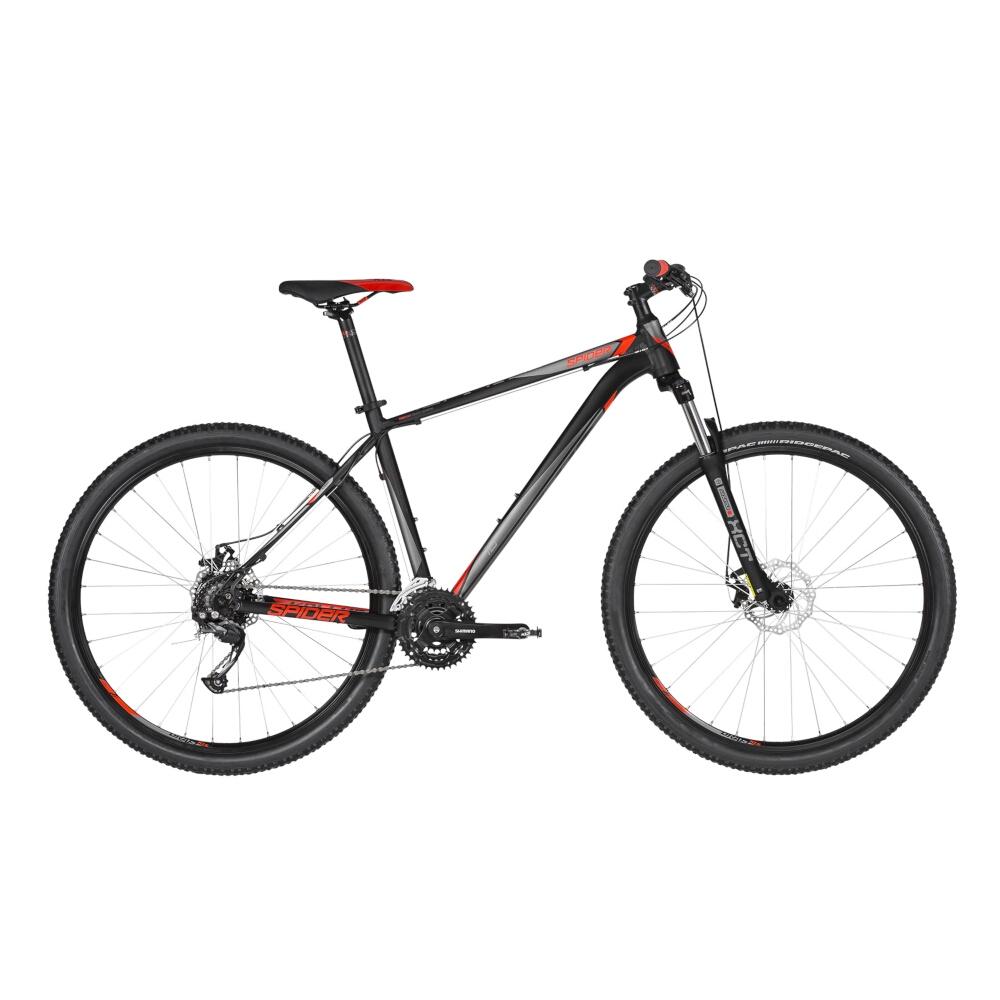"Horský bicykel KELLYS SPIDER 10 29"" - model 2019 Black - S (17'') - Záruka 10 rokov"