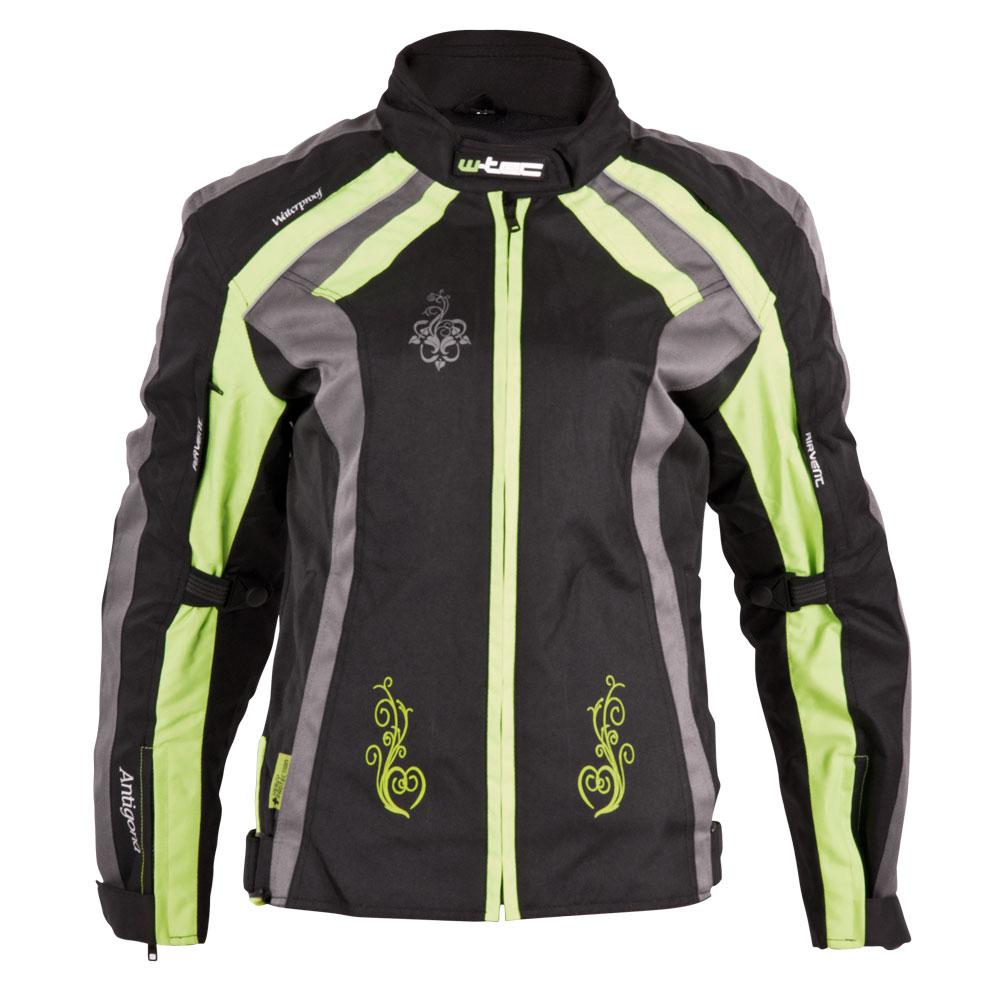 Dámska moto bunda W-TEC Antigona čierno-zelená - XS