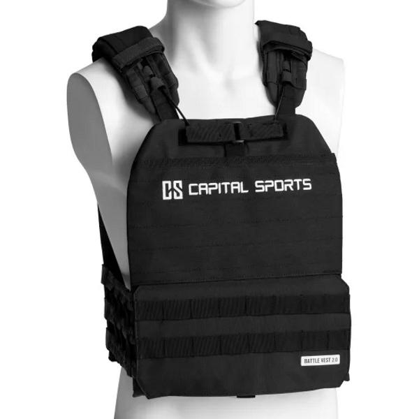 Záťažová vesta Capital Sports Battlevest 2.0 2 x 2,6 kg + 2 x 4 kg - čierna