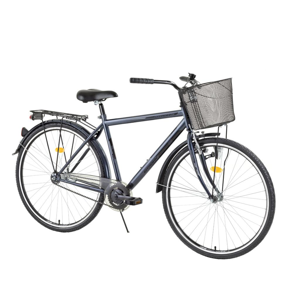 """Mestský bicykel DHS Citadinne 2831 28"""" - model 2015 čierna - 20,5"""" - Záruka 10 rokov"""