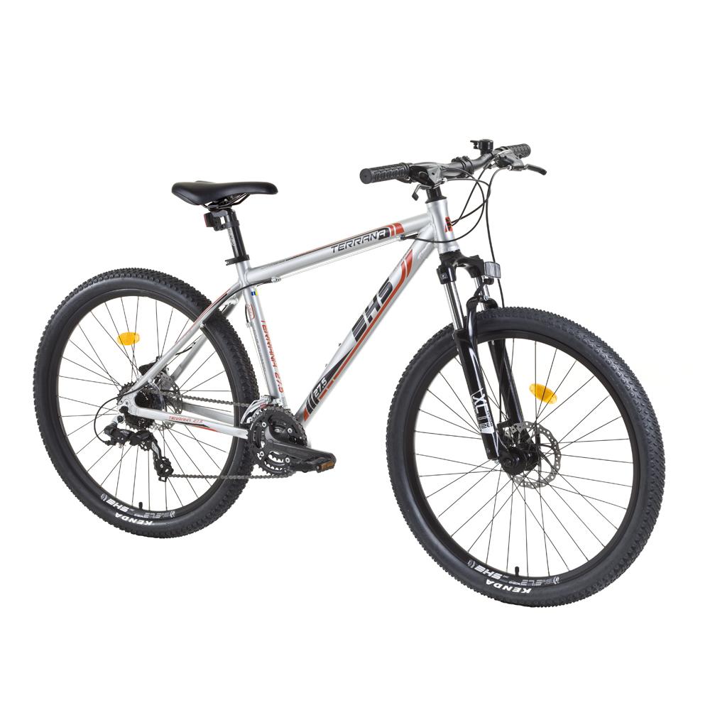 """Horský bicykel DHS Terrana 2725 27,5"""" - model 2015 strieborno-oranžová - 19,5"""" - Záruka 10 rokov"""