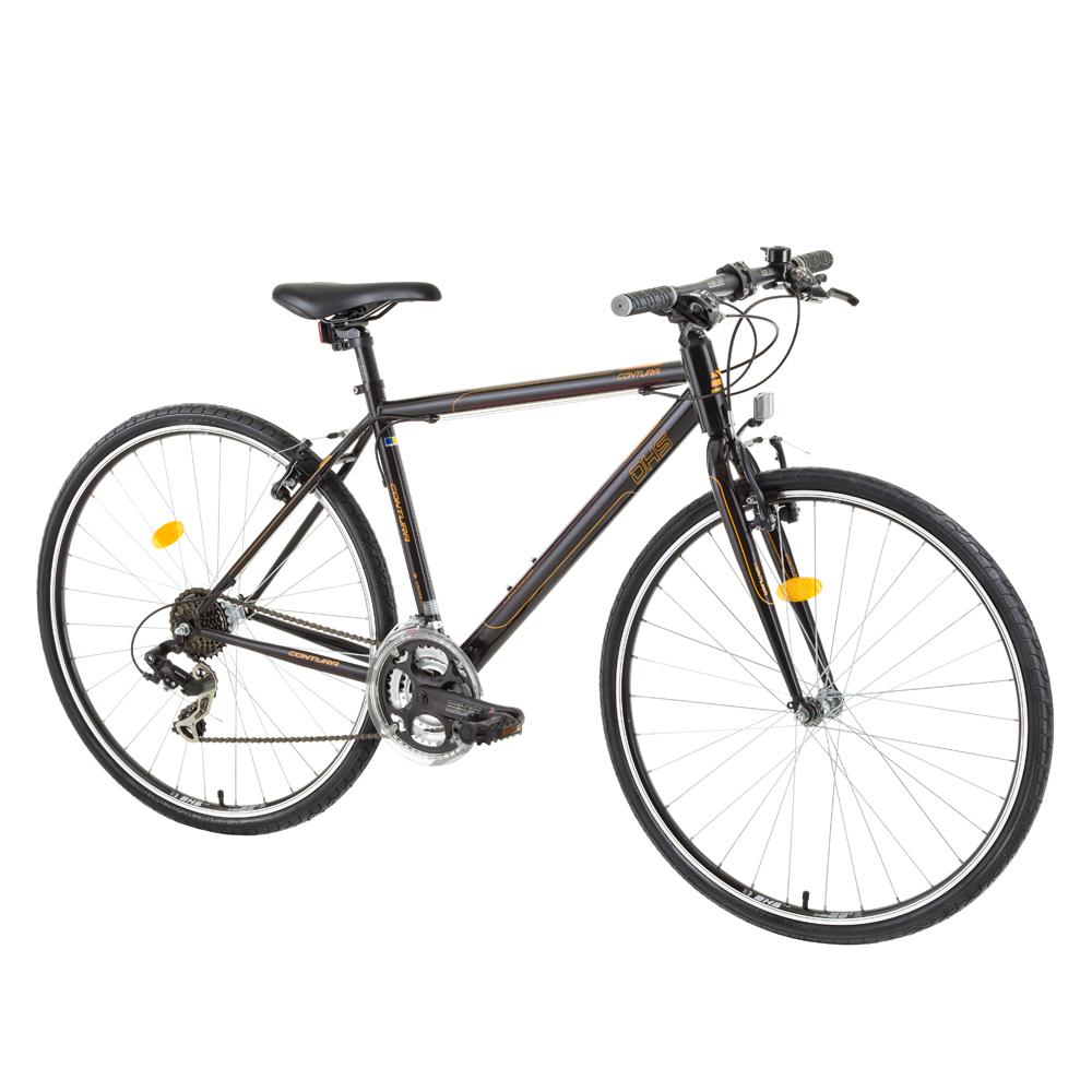 """Crossový bicykel DHS Contura 2863 28"""" - model 2015 čierno-oranžová - 19"""" - Záruka 10 rokov"""
