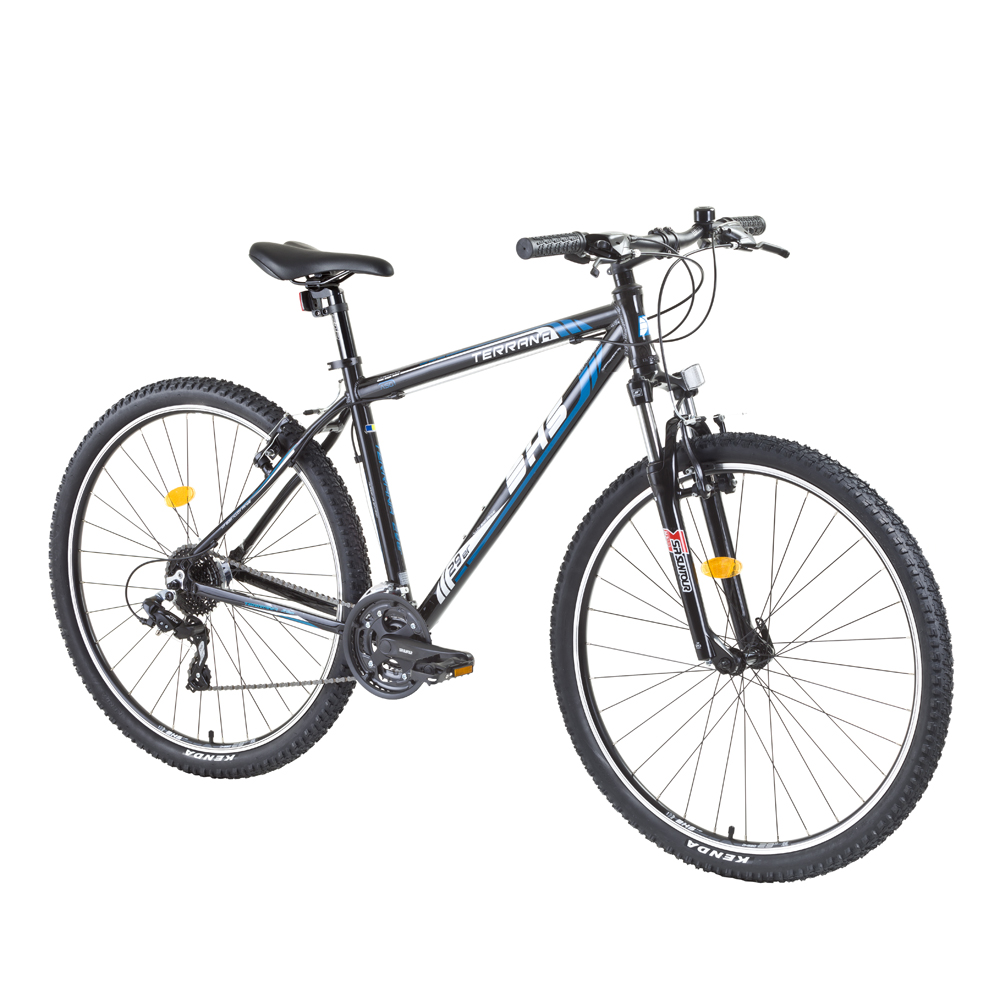 """Horský bicykel DHS Terrana 2923 29"""" - model 2015 čierno-modrá - 19,5"""" - Záruka 10 rokov"""