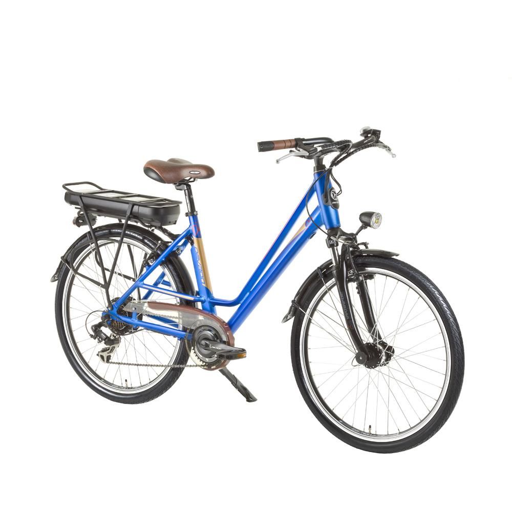 Mestský elektrobicykel Devron 26122 - model 2015 modrá - Záruka 10 rokov