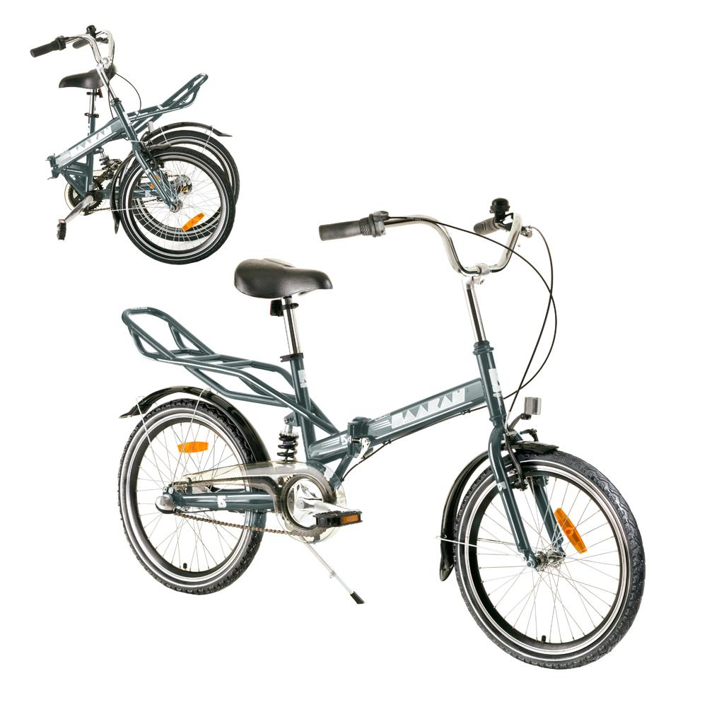 """Odpružený skladací bicykel Reactor Comfort 20"""" grafit"""