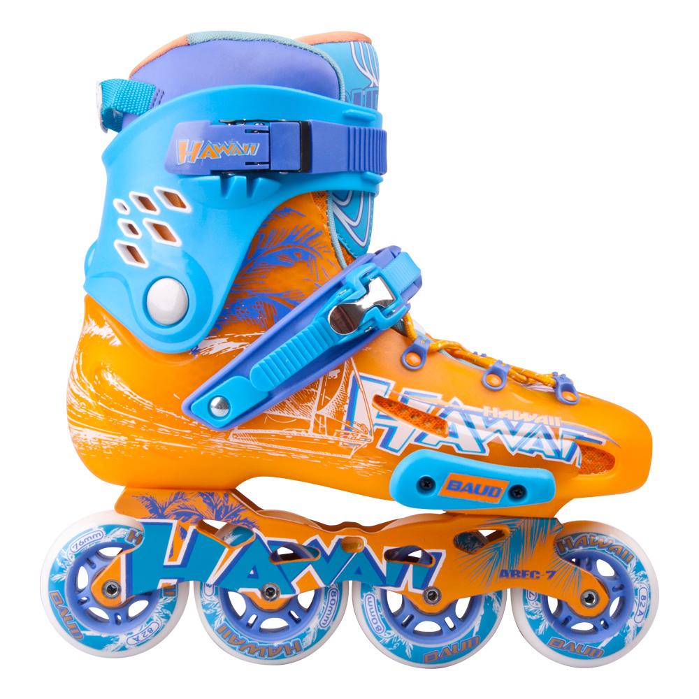 Kolieskové korčule Baud BD276 modro-oranžová - 42