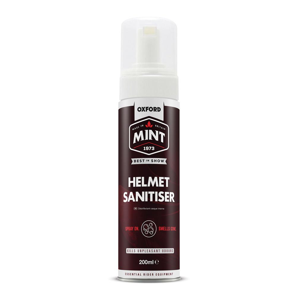 Čistič interiéru prilieb Mint Helmet Sanitiser 200 ml penový v spreji s dávkovačom