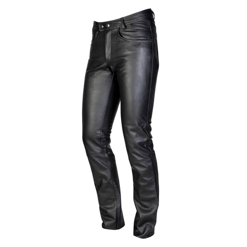 Pánske kožené moto nohavice OZONE Daft čierna - XL