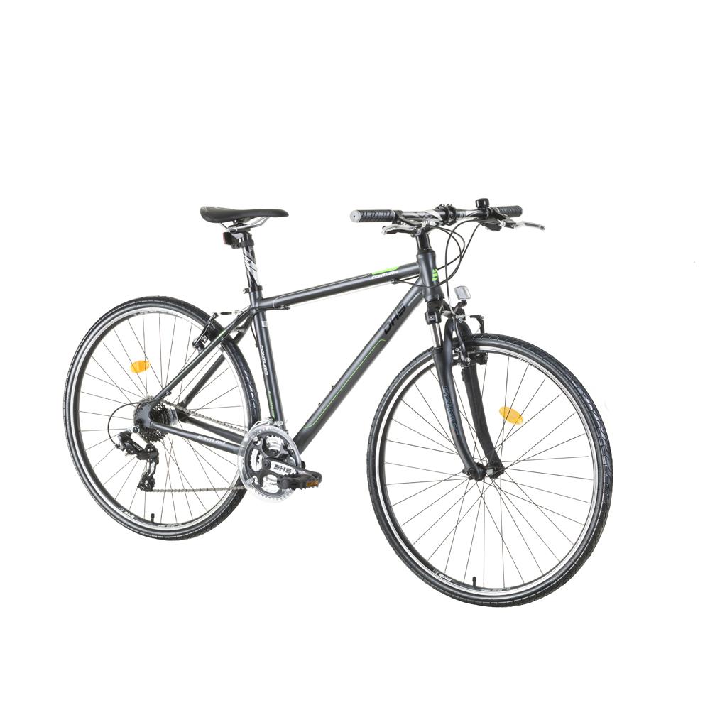 """Crossový bicykel DHS Contura 2865 28"""" - model 2015 šedo-zelená - 21"""" - Záruka 10 rokov"""