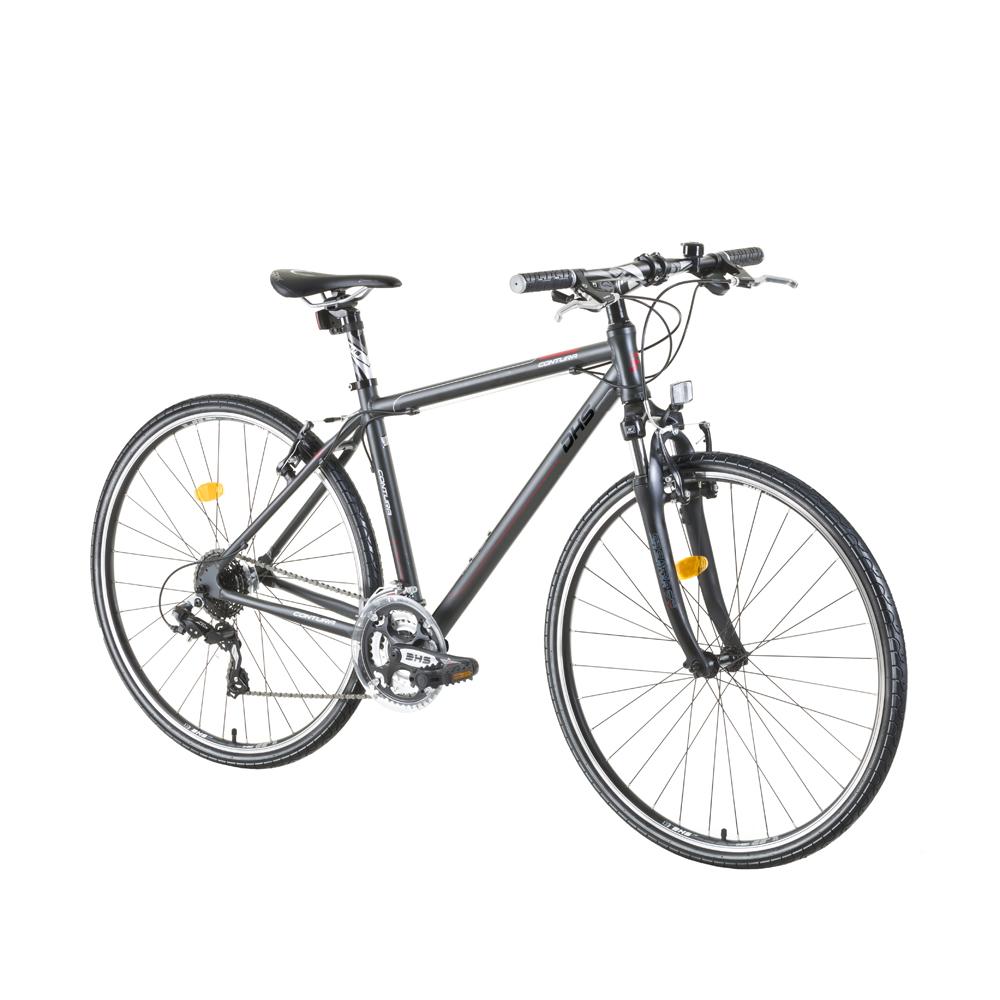 """Crossový bicykel DHS Contura 2865 28"""" - model 2015 šedo-červená - 21"""" - Záruka 10 rokov"""