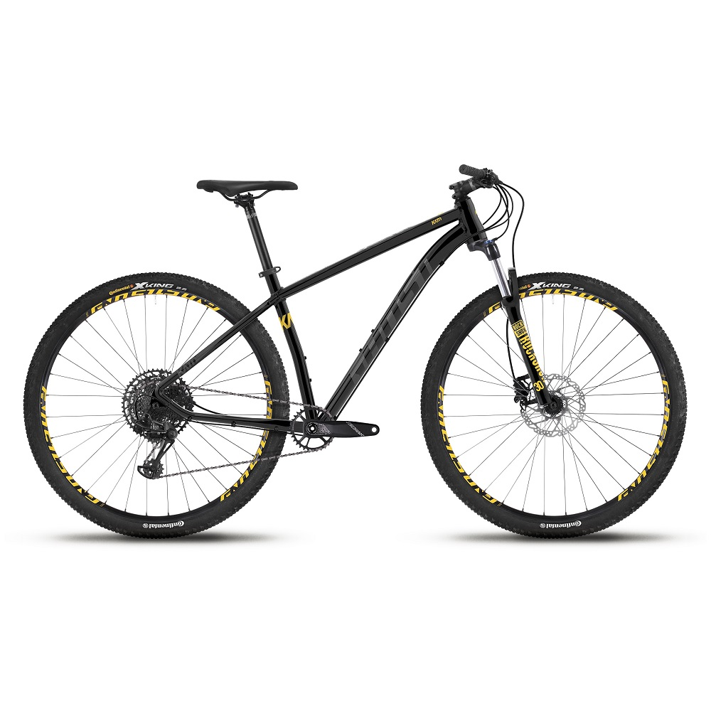 "Horský bicykel Ghost Kato 8.9 AL U 29"" - model 2019 Night Black / Titanium Grey / Spectra Yellow - L (19,5"") - Záruka 10 rokov"